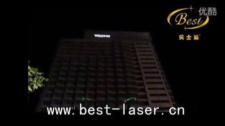 益田广场楼体激光表演