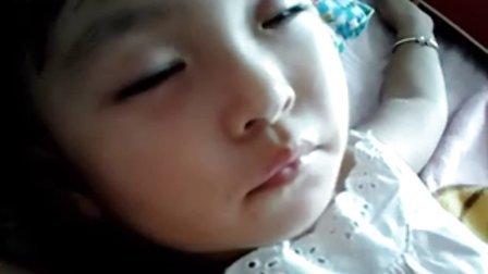 睡著了也愛媽媽的小Happy