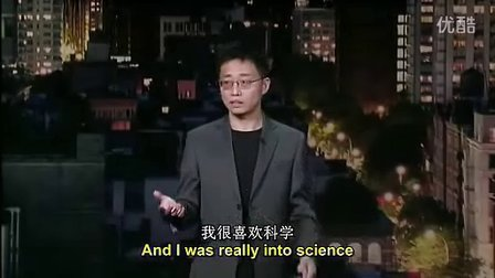 黄西在Letterman秀的单口相声(中英文字幕)