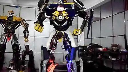 喷火3米大黄峰--博乐机器人表演