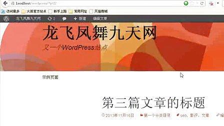 wordpress全套免费视频教程_免费下载第三讲:多媒体