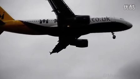 MONARCH A320 AWFUL LANDING IN STRONG WINDS
