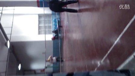 四川师范破晓4下,青年,单腿打羽毛球,出神入化,人生励志经典传奇