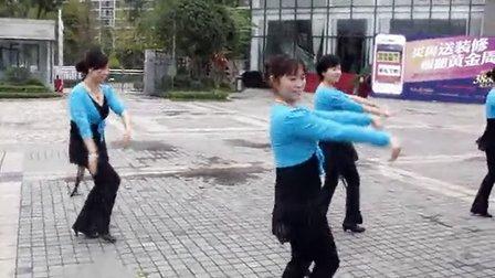 达州鹿岛广场舞蓝色蒙古高原