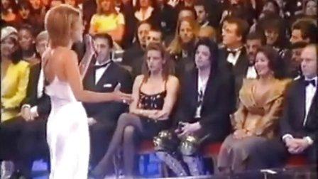 【Love4MJ】96世界音乐大奖,迈克尔杰克逊在台下看Celine Dion表演