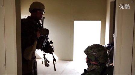铁拳2014-陆战1师第一侦察营与日陆自联合训练片段