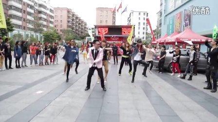 广东佛山高明区广场版江南Style
