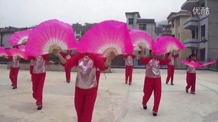 《红红的日子》扇子舞 广场舞中老年舞蹈将乐县解放村扇子舞