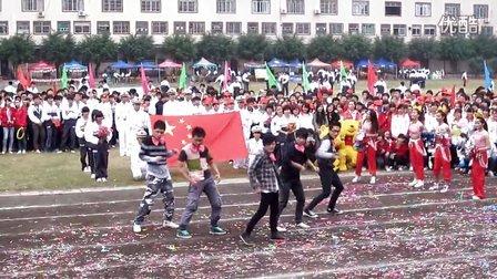 2012隆安中学校运会开幕式 啦啦操