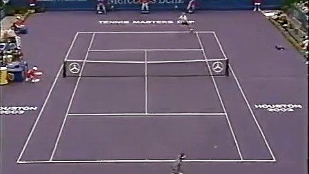 2003年终大师杯决赛 费德勒vs阿加西