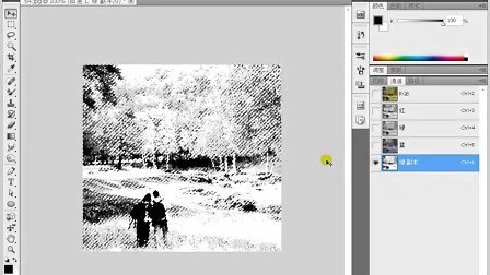 育碟软件 Photoshop CS5 应用通道制作雪景