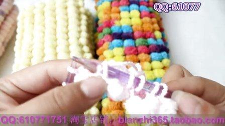 球球线围巾编织教程 简单围巾的织法花样视频教程