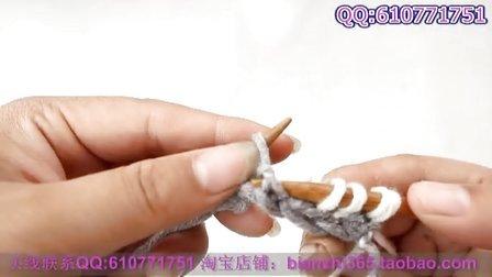 双色元宝针围巾的织法 手工编织围巾视频花样方法教程
