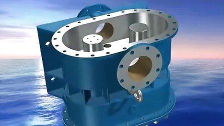 罗茨转子泵组装原理动画维修动画