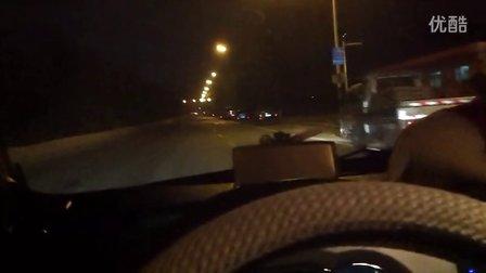 新手夜间开车教学1