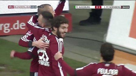 2月16日 奥格斯堡vs纽伦堡 德甲21轮 下半场