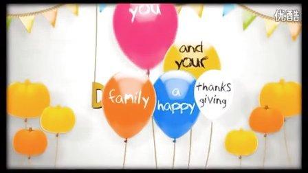 感恩节快乐(Happy Thanksgiving Balloon Song )