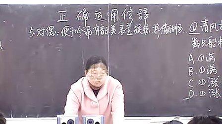 高中语文:正确运用常见的修辞手法 3高一语文优示范课教学视频高二语文高三语文