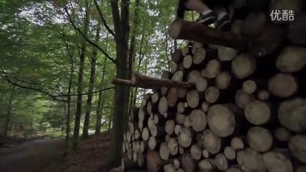 【旋风】森林深处的跑酷场地Parkour på Skovskolen