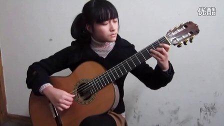 中国音协古典吉他考级演奏六级(考生:丁怡青)曲目《圣诞颂》3