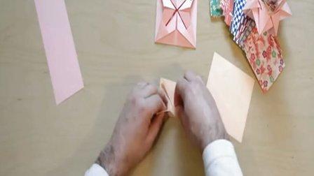 儿童简单折纸大全,手工制作可爱花篮折法图解
