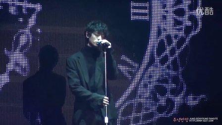 140212 郑俊英Gaon Chart K-POP Award庆祝公演离别10分前
