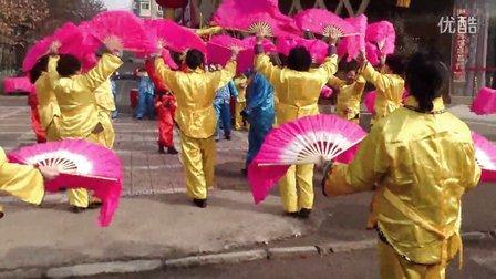 西安市灞桥区向阳坊社区锣鼓秧歌舞