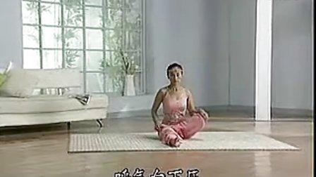 初级瑜伽A-01半莲花膝部练习