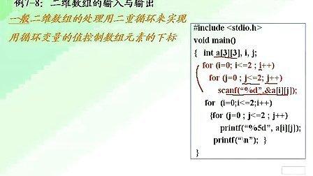 谭浩强版C语言程序设计视频教程(17)曾怡主讲