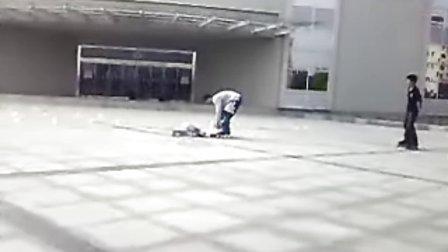 徐州疯狂轮滑高手过招