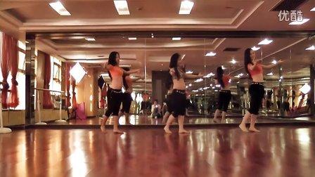 杜湘湘肚皮舞Trab风格肚皮舞《玛丽》成品舞教学视频 三人组合
