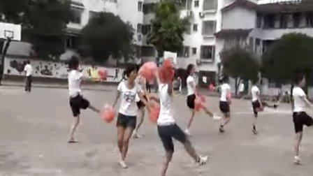 阳朔卓悦英文书院培训班篮球赛啦啦队表演