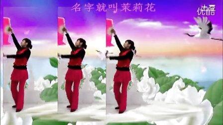 高安欣悦广场舞-亲亲茉莉花。扇舞。歌词字幕
