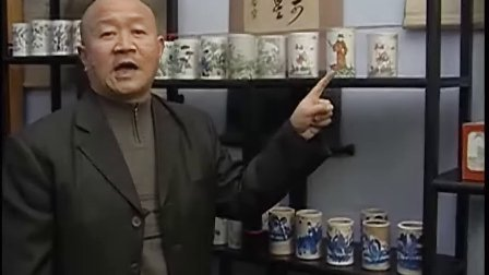 中国古玩 彩瓷笔筒 01