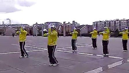 鸡西市第三套行进有氧健身操 (晚操)_标清_5