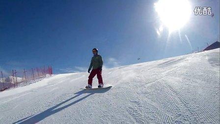 3月2日山雪场,乔总高级道留念