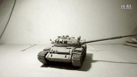 小号手1/35 t-62坦克炮塔旋转测试