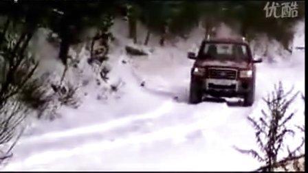 最快柴油皮卡车福特Ranger雪地试车