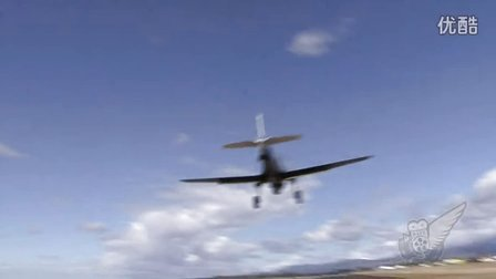 WW2 Fighters Very Close Takeoffs and Landings