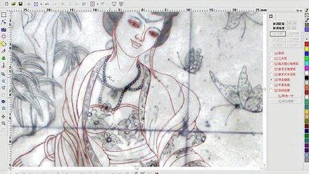 北京精雕:浮雕视频——人物专辑——侍女浮雕2009