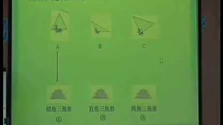 小学四年级数学优质课视频《三角形的分类》何甘妹