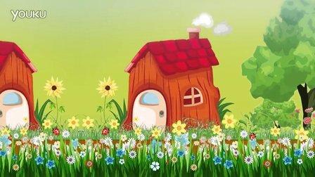 【素材TV网】卡通小鸟铅笔草莓房子LED视频素材