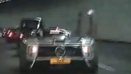Pagani zonda vs世爵vs法拉利F360晚上隧道飙车