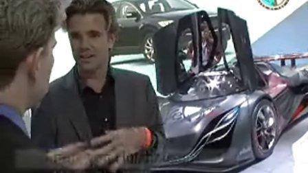 08底特律车展马自达超酷概念车Furai