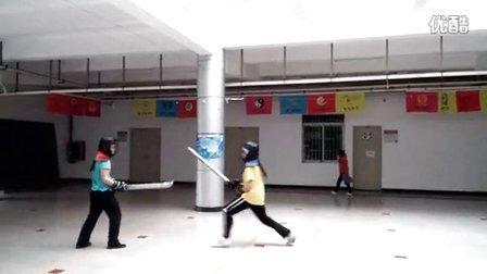 2014.3.9 暨大 蜂王(持苗刀)vs Gaglin(持双手剑)