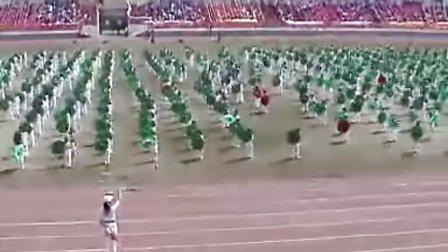佳木斯大学附属小学团体操  中国加油