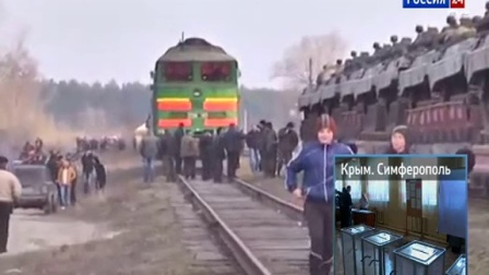 Жители Луганска перекрыли путь...