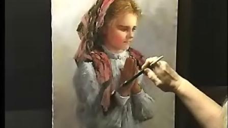 古典油画的临摹!大师的视频!古典女孩!22