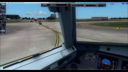 trackir5 320 APP PVG 35R and taxi to gate