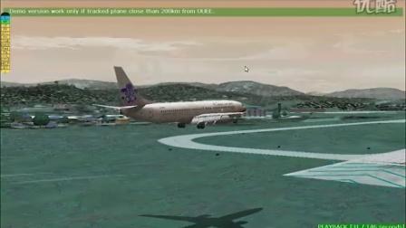 飞机降落三亚凤凰机场